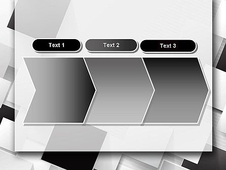 Overlapping Black and White Squares PowerPoint Template Slide 16