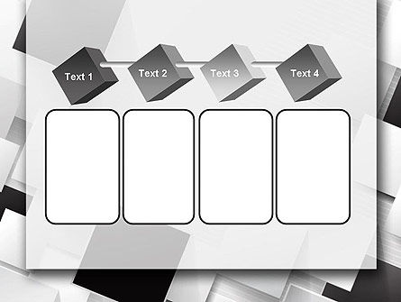 Overlapping Black and White Squares PowerPoint Template Slide 18