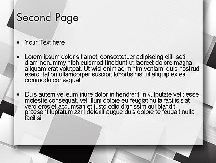 Overlapping Black and White Squares PowerPoint Template Slide 2