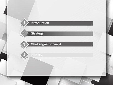 Overlapping Black and White Squares PowerPoint Template Slide 3