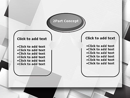 Overlapping Black and White Squares PowerPoint Template Slide 4