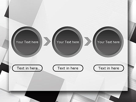 Overlapping Black and White Squares PowerPoint Template Slide 5
