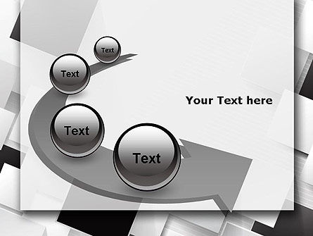 Overlapping Black and White Squares PowerPoint Template Slide 6