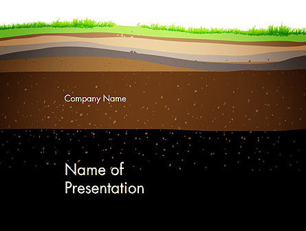 Education & Training: Soil Cut PowerPoint Template #13213