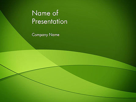Abstract/Textures: Green Transparent Waves PowerPoint Template #13214