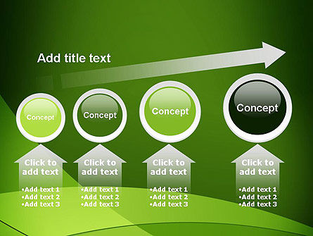 Green Transparent Waves PowerPoint Template Slide 13