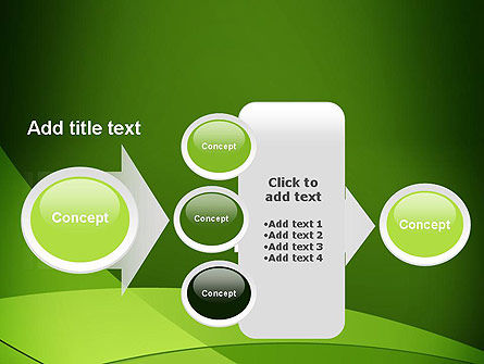 Green Transparent Waves PowerPoint Template Slide 17