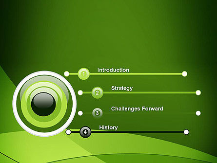 Green Transparent Waves PowerPoint Template Slide 3