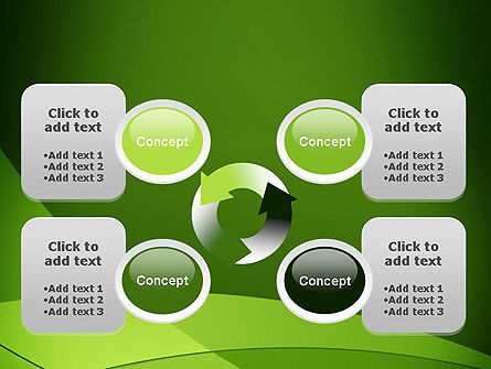Green Transparent Waves PowerPoint Template Slide 9