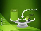 Green Transparent Waves PowerPoint Template#10