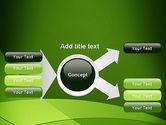 Green Transparent Waves PowerPoint Template#14