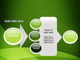 Green Transparent Waves PowerPoint Template#17
