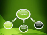 Green Transparent Waves PowerPoint Template#4