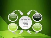 Green Transparent Waves PowerPoint Template#6