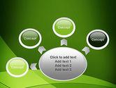 Green Transparent Waves PowerPoint Template#7