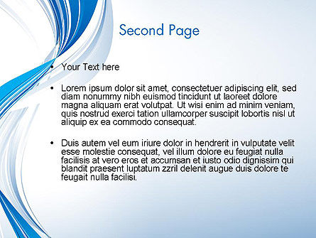 Abstract Streamy PowerPoint Template Slide 2