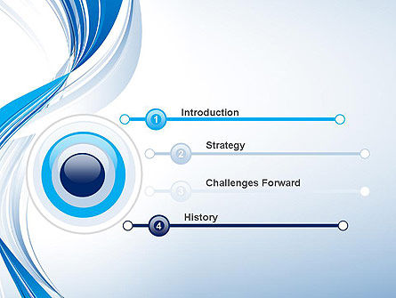 Abstract Streamy PowerPoint Template Slide 3