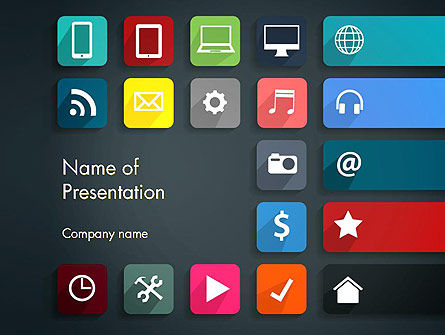 Flat Colorful Icons PowerPoint Template