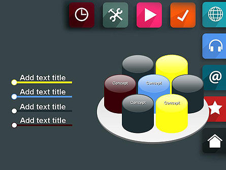 Flat Colorful Icons PowerPoint Template Slide 12