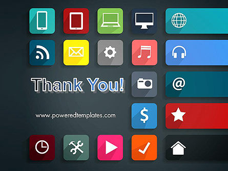 Flat Colorful Icons PowerPoint Template Slide 20