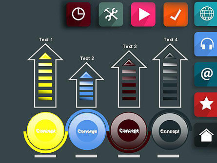 Flat Colorful Icons PowerPoint Template Slide 7