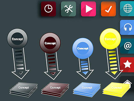 Flat Colorful Icons PowerPoint Template Slide 8