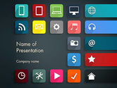 Careers/Industry: Flat Colorful Icons PowerPoint Template #13217