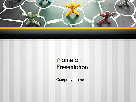 Network of People PowerPoint Template, 13218, Technology and Science — PoweredTemplate.com