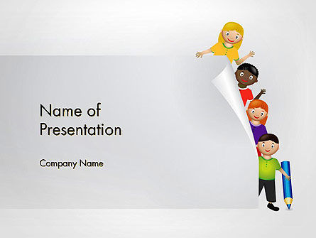 Education Cartoon PowerPoint Template, 13221, Education & Training — PoweredTemplate.com