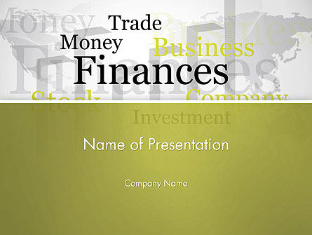 Financial/Accounting: Trade Money Finances PowerPoint Template #13222