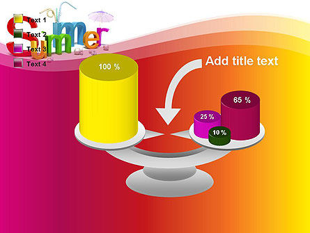 3D Summer Party PowerPoint Template Slide 10