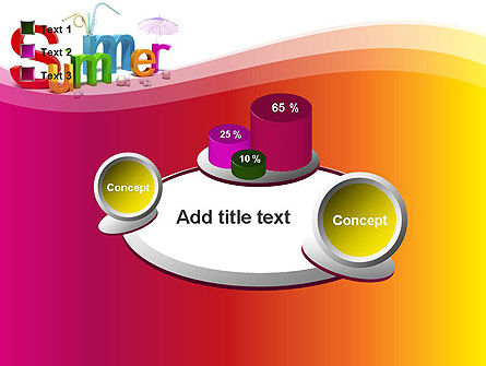 3D Summer Party PowerPoint Template Slide 16