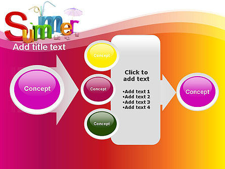 3D Summer Party PowerPoint Template Slide 17