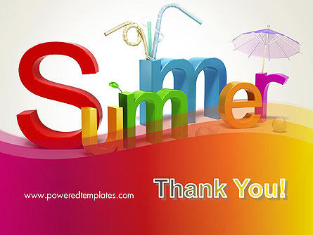 3D Summer Party PowerPoint Template Slide 20