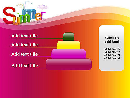 3D Summer Party PowerPoint Template Slide 8