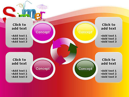 3D Summer Party PowerPoint Template Slide 9