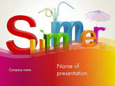 Holiday/Special Occasion: 3D Summer Party PowerPoint Template #13223