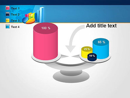 Bar and Pie Charts on Word Map PowerPoint Template Slide 10