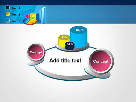 Bar and Pie Charts on Word Map PowerPoint Template Slide 16