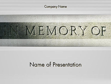 Religious/Spiritual: In Memory Of PowerPoint Template #13225
