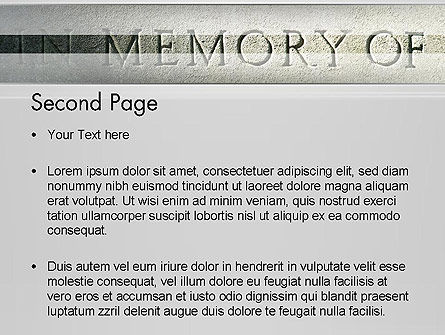 In Memory Of PowerPoint Template, Slide 2, 13225, Religious/Spiritual — PoweredTemplate.com