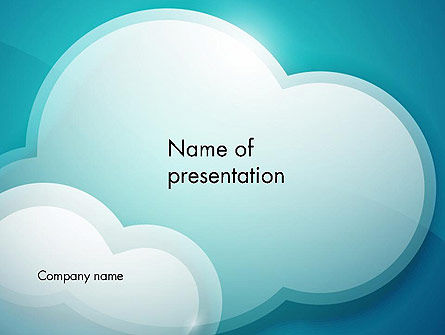 Nature & Environment: Turquoise Clouds PowerPoint Template #13226