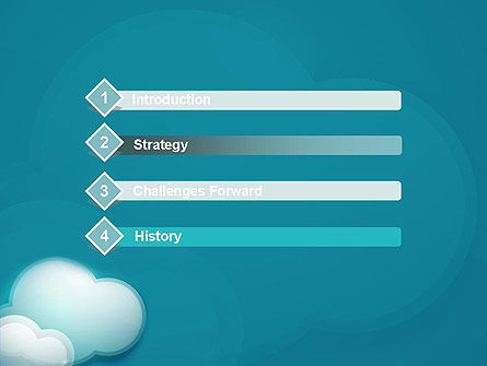 Turquoise Clouds PowerPoint Template, Slide 3, 13226, Nature & Environment — PoweredTemplate.com