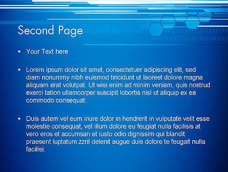 Abstract Digital Stream PowerPoint Template, Slide 2, 13227, Telecommunication — PoweredTemplate.com