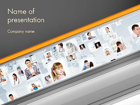 People: People Network PowerPoint Template #13228