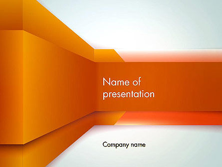 Abstract Wall Perspective PowerPoint Template