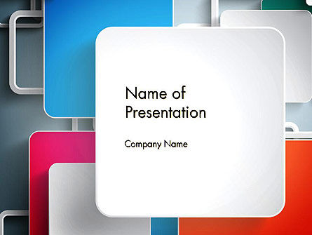 Abstract/Textures: Overlapping Layers Abstract PowerPoint Template #13230