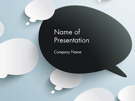 Opposing Speech Bubbles PowerPoint Template