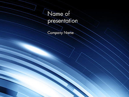 Blue Tech Style Abstract PowerPoint Template