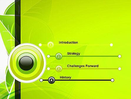 Green Neon Leaves PowerPoint Template, Slide 3, 13235, Nature & Environment — PoweredTemplate.com